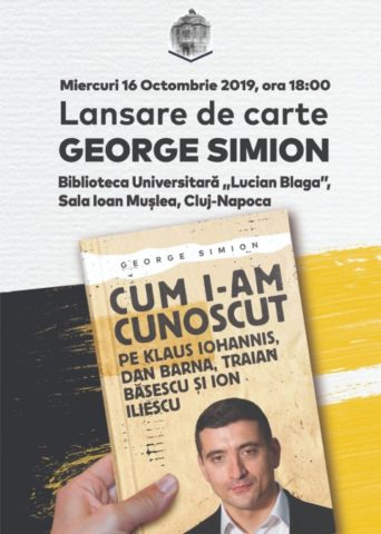 """Lansare de carte marca George Simion: """"Cum i-am cunoscut"""""""
