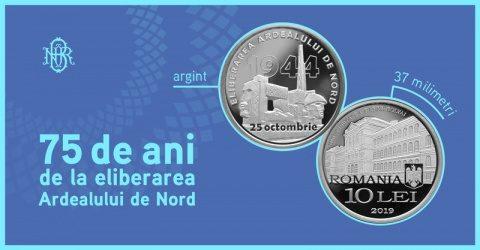 5 ani de la eliberarea Ardealului de Nord aniversați de BNR printr-o emisiune numismatică