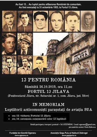 Comemorarea celor 13 luptători anticomuniști executați la 31 octombrie 1953