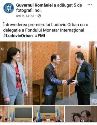 Poza Zilei: Delegație FMI la Guvern