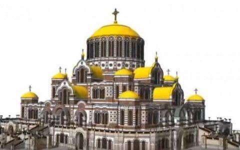Cea mai mare catedrală dib Rusia e mai mică decât Catedrala Mântuirii Neamului Românesc