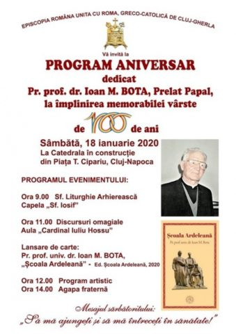 Părintele greco-catolic Ioan Bota, aniversat la 100 de ani
