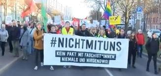 Proteste în Germania față de alianlele electorale cu extrema dreaptă: Fără pact cu fasciștii!