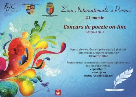 Concursul de poezie on-line din Cluj-Napoca pentru elevi și-a desemnat câștigătorii!