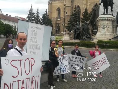 Protest la Cluj-Napoca pentru drepturi și libertăți