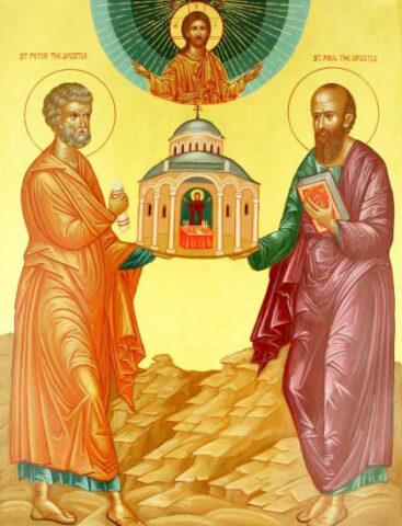 Biserica Ortodoxă îi prăznuiește pe Sfinții Apostoli Petru și Pavel