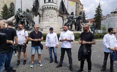Bucătarii din Cluj -Napoca au protestat
