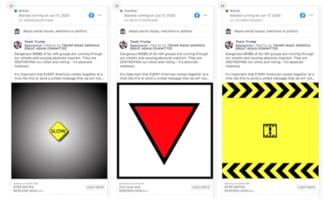 Facebook retrage mesaje publicitare ale campaniei lui Trump care promovau un triunghi roșu răsturnat, un simbol nazist
