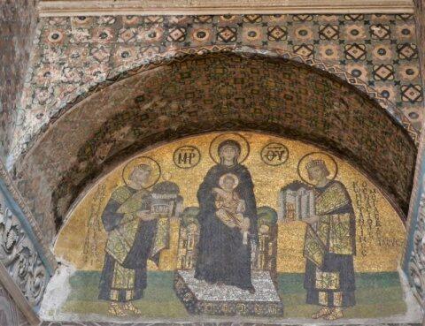 Erdogan acoperă cu draperii mozaicurile creştine la Sfânta Sofia. Putin şi Kyriakos Mitsotakis se opun