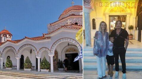 """Mickey Rourke s-a rugat în Biserica Sf. Nectarie din Agios Konstantinos după finalul filmărilor la """"Man of God"""" despre viața Sfântului Nectarie"""