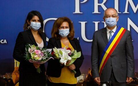 Nisreen Rubaian, Reprezentanta Înaltului Comisariat ONU pentru Refugiați (UNHCR), a fost în vizită la Cluj-Napoca