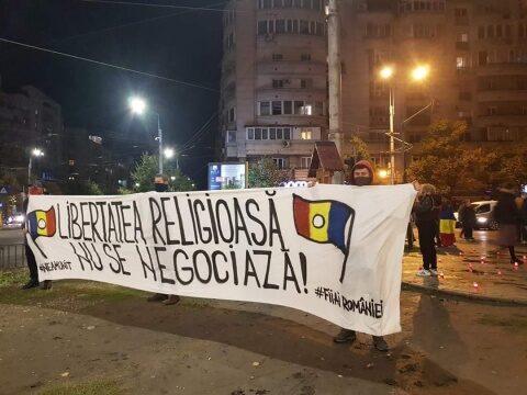 Neamunit a organizat un protest față de încălcarea drepturilor și libertăților religioase