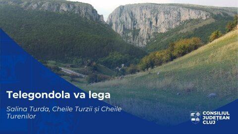 Consiliul Județean Cluj se implică în realizarea unei rețele de transport nepoluant la Turda. Salina Turda, Cheile Turzii și Cheile Turenilor vor fi legate printr-o instalație pe cablu de tip telegondolă.
