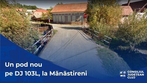 Pod nou în centrul localității Mănăstireni