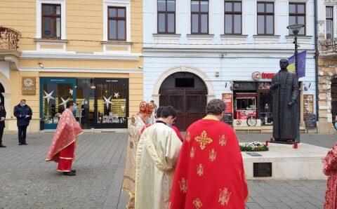 Ziua Națională la statuia din Cluj-Napoca a lui Iuliu Hossu
