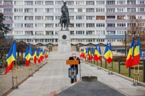 Ziua Națională, în fața statuii lui Mihai Viteazu din Cluj-Napoca