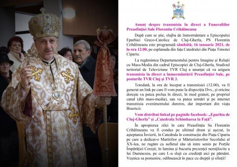 Funeraliile episcopului Florentin Crihălmeanu, transmise live