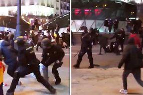 Violențe în Spania. Lupte de stradă pentru eliberarea unui rapper