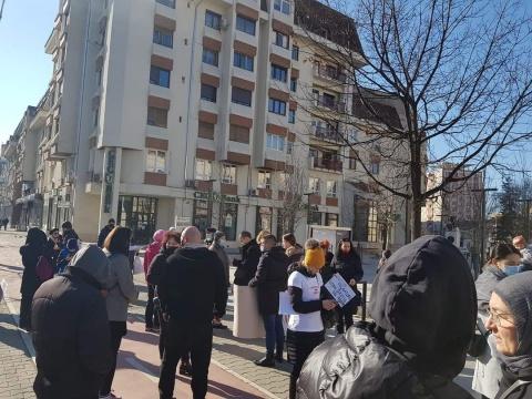 Protest clujean împotriva vaccinării obligatorii
