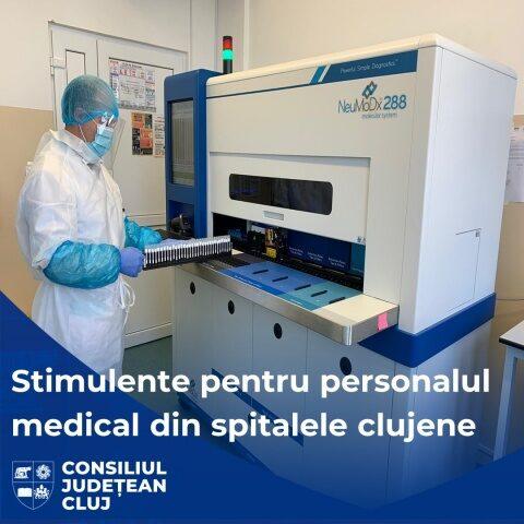 Stimulente financiare pentru personalul medical și de specialitate din spitalele subordonate Consiliului Județean Cluj