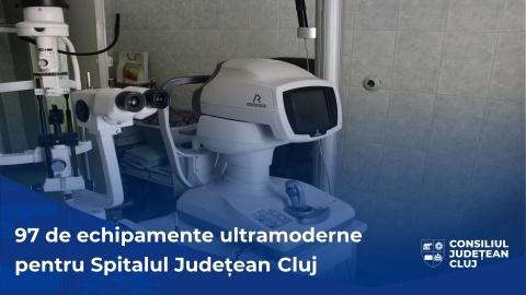 Consiliul Județean Cluj a cumpărat cca. 100 de noi aparaturi medicale ultramoderne pentru Spitalul Județean de Urgență
