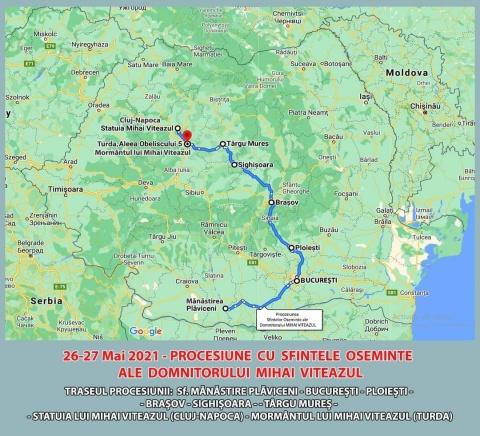 Pelerinajul osemintelor Voievodului de Țară, Mihai Viteazul… ajunge și la Cluj-Napoca