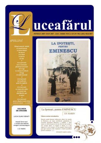 """Un eveniment revuistic  la Botoșani: apariția revistei """"Luceafărul de Seară"""""""