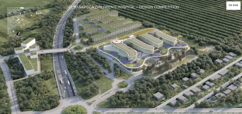 Președintele Consiliului Județean Cluj Alin Tișe a semnat contractul de proiectare pentru Spitalul Pediatric Monobloc