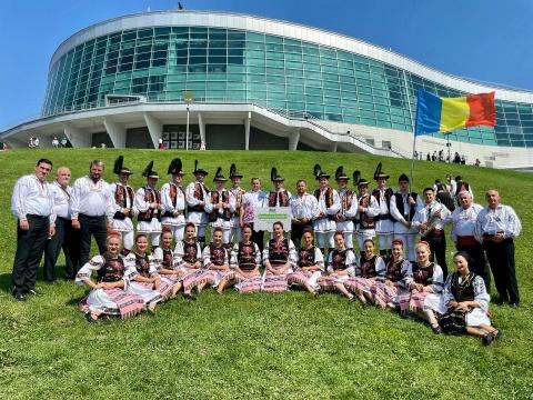"""Ansamblul Folcloric Studențesc """"Mărțișorul"""" al Casei de Cultură a Studenților """"Dumitru Fărcaș"""" a revenit de la Festivalul Internațional de Folclor """"World Folkloriada"""" din Rusia, cu două recorduri mondiale"""