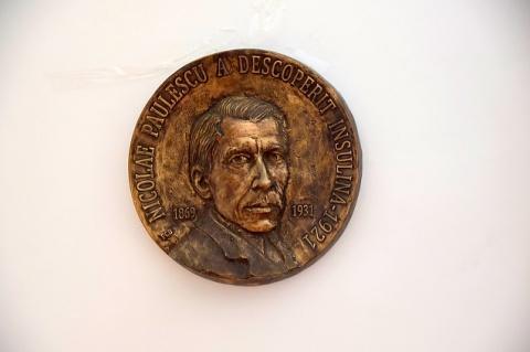 Basorelieful savantului Nicolae Paulescu dezvelit la Academia Română