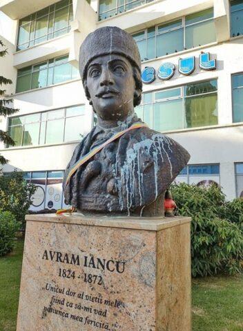 Bustul lui Avram Iancu a fost vandalizat la Satu Mare, chiar în ziua comemorării