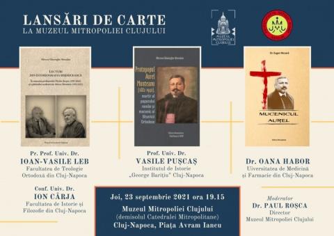 Lansări de carte, la Muzeul Mitropoliei Clujului