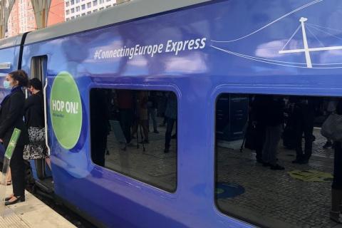 Trenul european sosește în Gara Cluj-Napoca