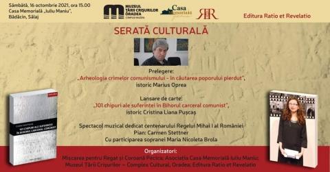 Serată culturală în Bădăcin. Invitați istoricii Marius Oprea și Cristina Liana Pușcaș