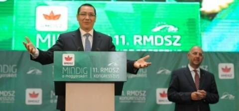 """Ponta, la Congresul UDMR de la Cluj-Napoca: UDMR este """"singurul reprezentant legitim al comunității maghiare din România"""""""