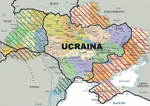 Cum aşa ar trebui să arate, de fapt, Ucraina, cu aproximaţie