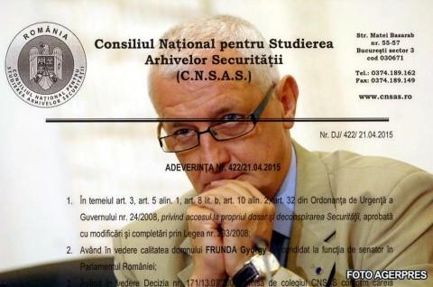 """Gyorgy Frunda, consilierul lui Ponta, ameninţă NapocaNews cu judecata pe motiv de """"securitate"""""""