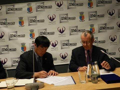 Parteneriat sportiv între DJST Cluj şi provincia Shandong