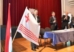 """Laszlo Tokes se joacă de-a simbolurile! Steagul regiunii """"Partium"""", încă o născocire…."""