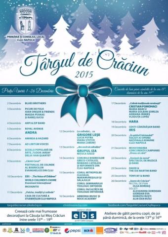Cel mai frumos din ţară! Târgul de Crăciun de la Cluj-Napoca se deschide în 1 Decembrie