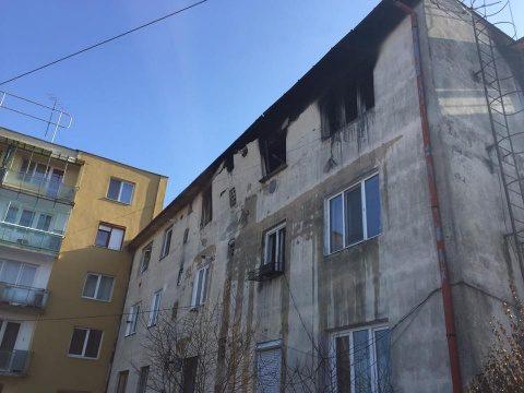 Explozie la un bloc din cartierul Gruia