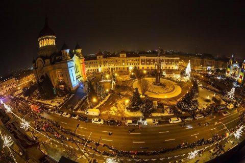 10.000 de clujeni au jucat Hora Unirii, de 24 ianuarie. Cea mai mare Horă a Unirii din istoria României la Cluj (Video)