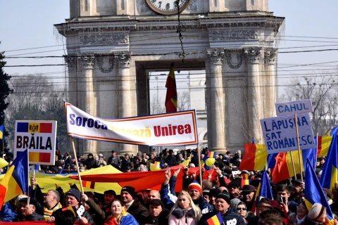 Manifestare unionistă uriașă la Chișinău. S-a cerut unirea cu România. Dodon e speriat