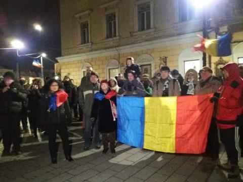 Protest la Cluj-Napoca faţă de OUG privind repunerea în termen