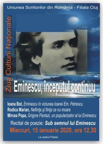 """Recitalul poeților: """"Sub semnul lui Eminescu"""" de Ziua Culturii Naționale"""