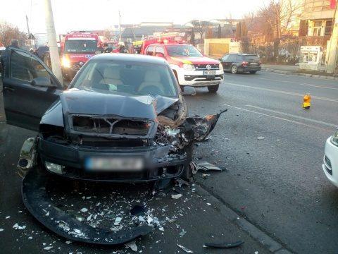 Accident de circulație pe strada Frunzișului din Cluj-Napoca