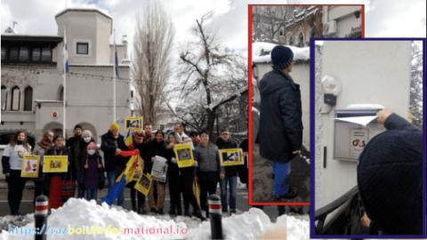 Protestatarii au depus la Ambasada Finlandei un memoriu pentru repatrierea copiilor Smicală