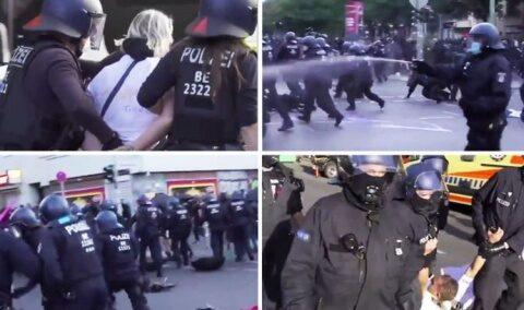 Bătăi de stradă între poliție și protestatarii pentru libertate din Berlin. Rănți și arestați