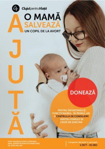 Campanie la Cluj: Ajută o mamă, salvează un copil de la avort