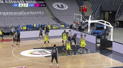 U-Banca Transilvania Cluj s-a calificat în premieră în grupele Ligii Campionilor la baschet masculin